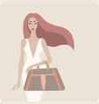 young stylish beautiful woman wearing luxury dress vector image vector image