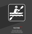 canoeing symbol Flat modern web design with long vector image