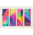 Color summer set design with nature art elements vector image