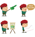 Artist Mascot 1 vector image
