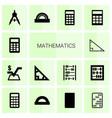 14 mathematics icons vector image vector image