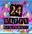 24th anniversary celebration logotype vector image