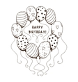 Air balloons frame with text for birthday party vector image vector image