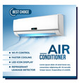 air conditioner system advertising poster vector image vector image