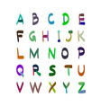 Alphabet hand drawn Set of icons vector image vector image