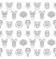 australian animals outline coloring seamless vector image vector image