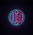 barbershop retro neon sign hairdressing emblem vector image