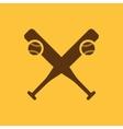 Baseball icon Sport symbol Flat vector image vector image