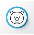 bear icon symbol premium quality isolated grizzly