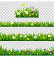 big set flowers borders vector image vector image