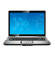blue laptop vector image vector image