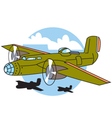 Bomber plane vector image vector image