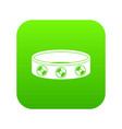 bracelet with gems icon digital green vector image
