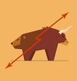 Bull and bear symbol of stock market vector image