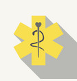 caduceus - medical sign in modern flat style vector image vector image