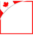 canadian flag corner maple leaf frame vector image