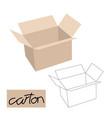 carton box flat style lining vector image vector image