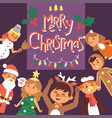 christmas 2019 happy new year greeting card happy vector image vector image