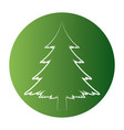 christmas tree white silhouette merry christmas vector image vector image