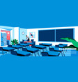 classroom flat landing page template vector image