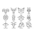 collection zodiac signs vector image