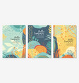 colorful set with summers landscape vector image