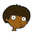 comic cartoon surprised boy vector image vector image