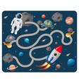 cute cartoon maze game template vector image