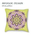 design cushions home interior throw pillows vector image vector image
