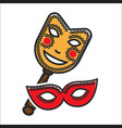 different vintage masks for carnival vector image vector image