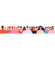 diverse people crowd modern teenagers society vector image