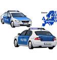 estonia police car vector image vector image