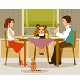 Family dinner flat style vector image vector image