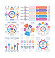 financial infographic business bar graph and flow vector image vector image
