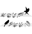 four set music notes musical design element vector image