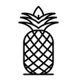 fresh pineapple icon outline style vector image vector image