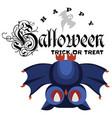 funny cartoon logo halloween flat poster vector image vector image