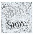 garage storing shelves Word Cloud Concept vector image vector image