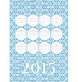 Geometric calendar 2015 vector image