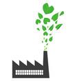go green factory vector image