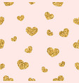 Gold heart seamless pattern golden chaotic