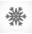 Gray Snowflake Icon Over White vector image vector image