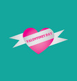 heart and ribbon baner icon vector image vector image