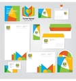 Identity corporative set design template in hot vector image