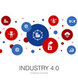 industry 40 trendy circle template with simple vector image vector image