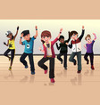 kids in hip hop dance class vector image