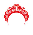 kokoshnik headdress female folk vector image