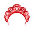 kokoshnik headdress female folk vector image vector image