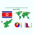 korea dpr all countries of the world infographics vector image