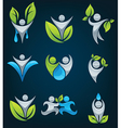 large eco people collection vector image vector image